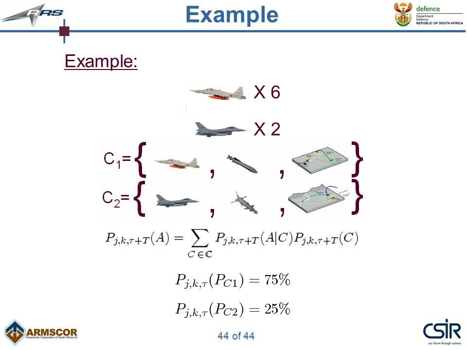 44 of 44 Example Example: X 6 X 2