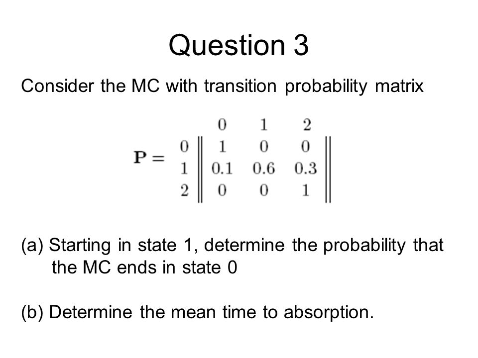 Question 5 – Method 2 Let X n be the cumulative number of successive heads.