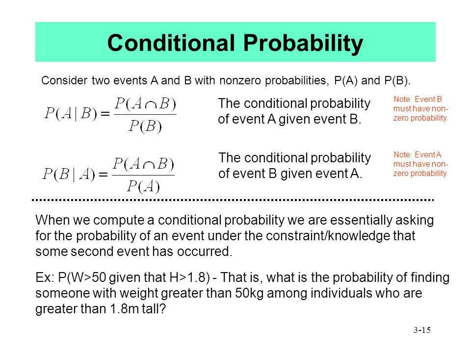 3-15 Consider two events A and B with nonzero probabilities, P(A) and P(B).