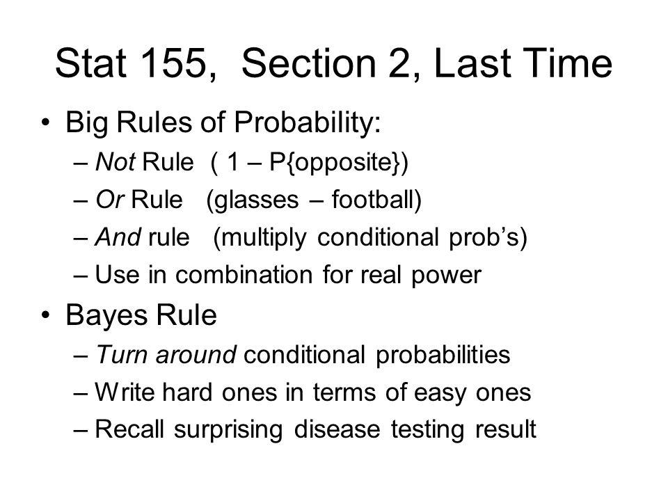 Random Variables E.g: Measurement error: Let X = measurement: Continuous How to model probabilities???