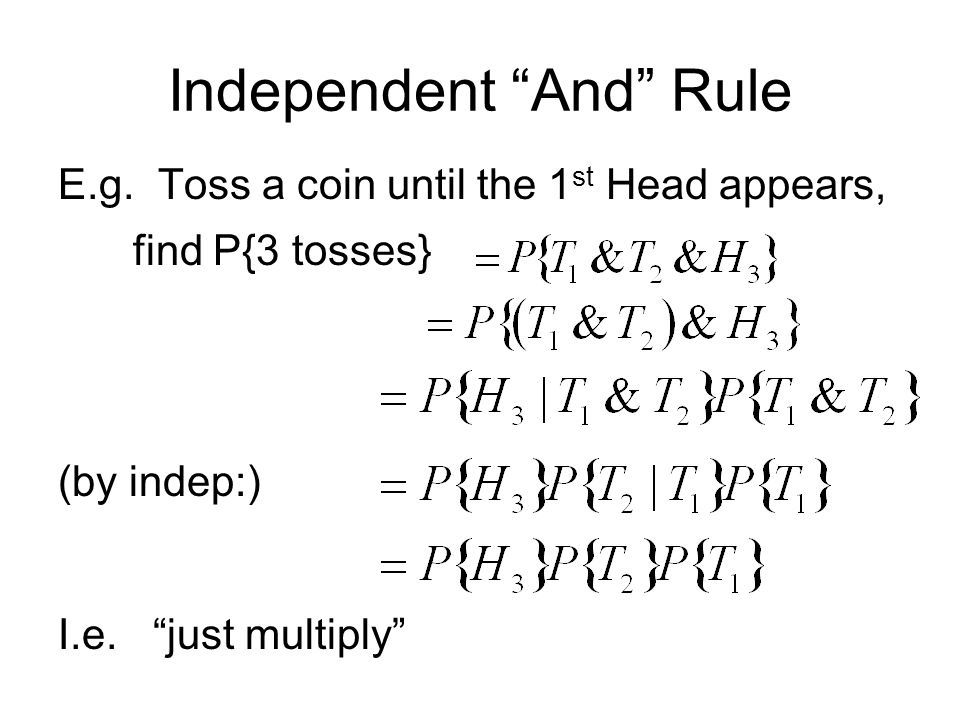 Independent And Rule E.g.