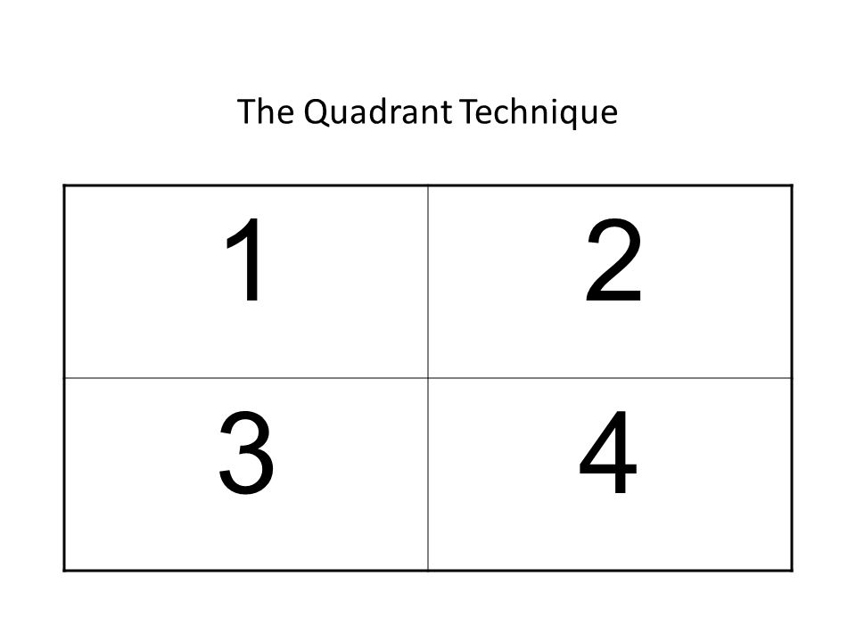 The Quadrant Technique 1 2 34