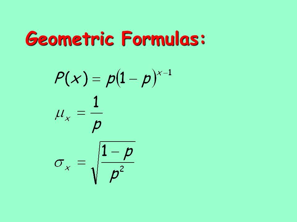 Geometric Formulas: