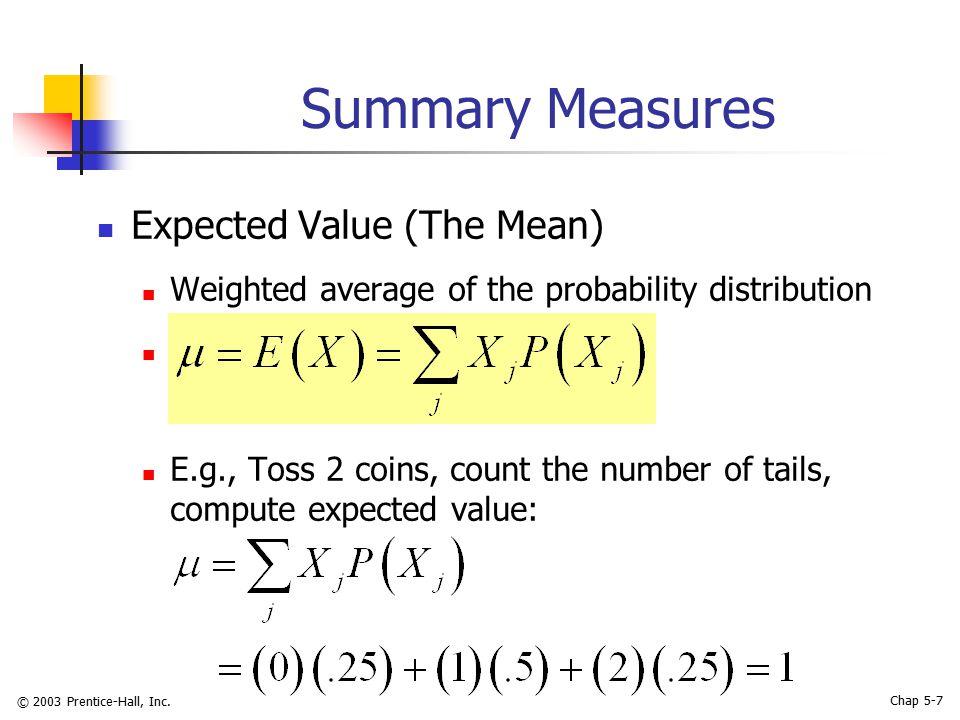 © 2003 Prentice-Hall, Inc.Chap 5-28 Poisson Distribution in PHStat PHStat | Probability & Prob.