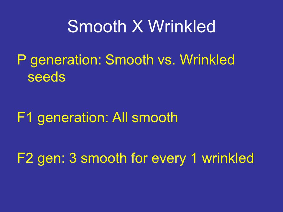 Smooth X Wrinkled P generation: Smooth vs.