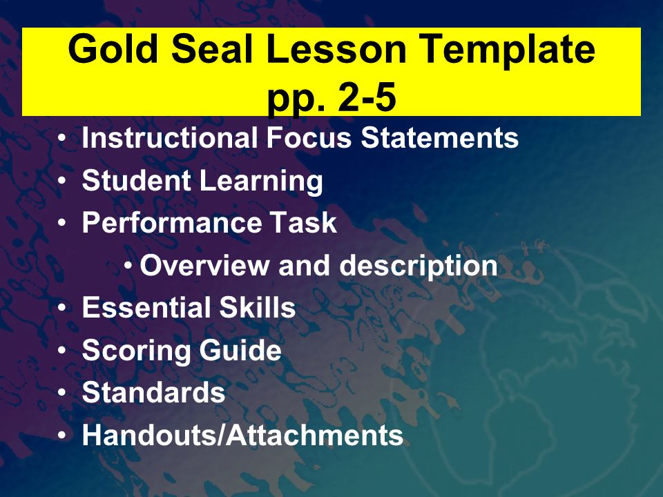 Gold Seal Lesson Template pp.