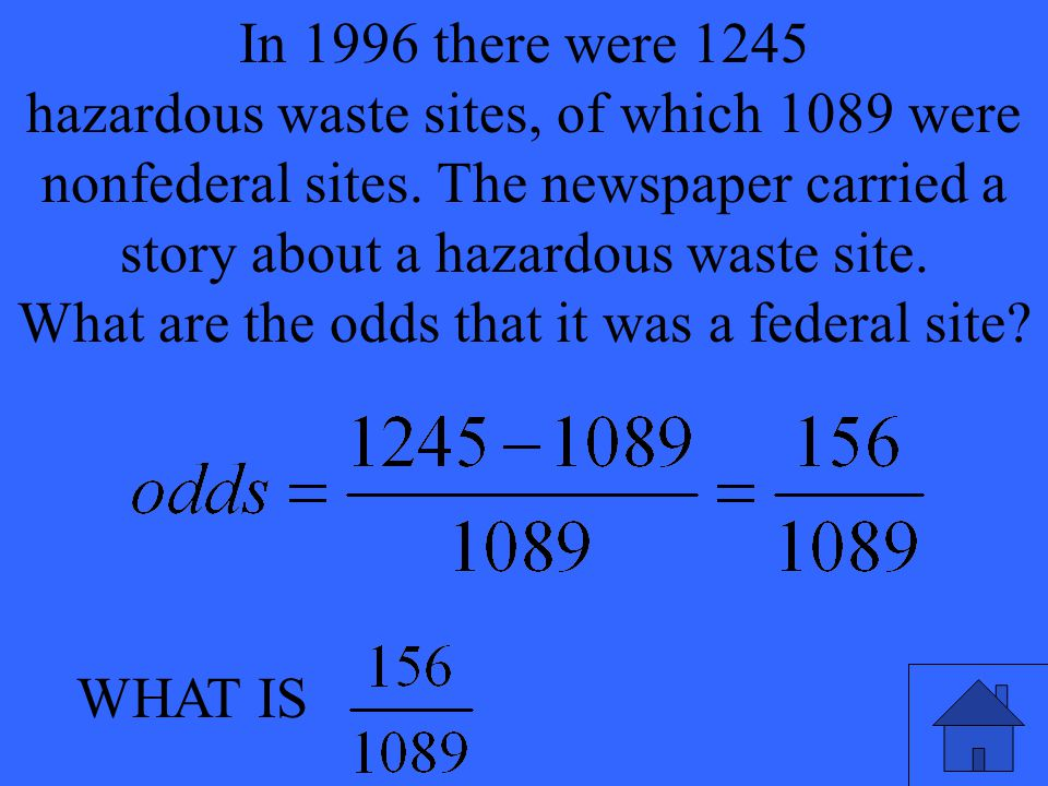 WHAT IS In 1996 there were 1245 hazardous waste sites, of which 1089 were nonfederal sites.