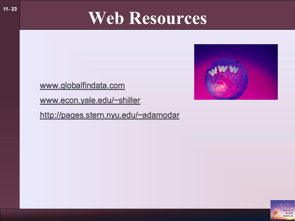 11- 23 Web Resources
