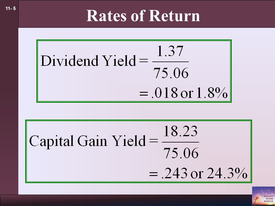 11- 5 Rates of Return