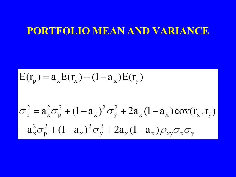 PORTFOLIO MEAN AND VARIANCE