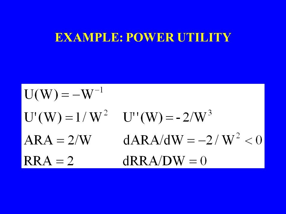 EXAMPLE: POWER UTILITY