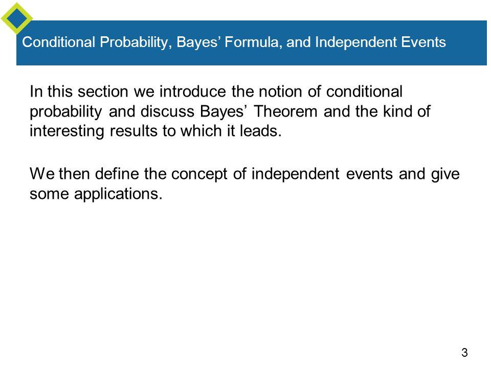 24 Bayes' Theorem