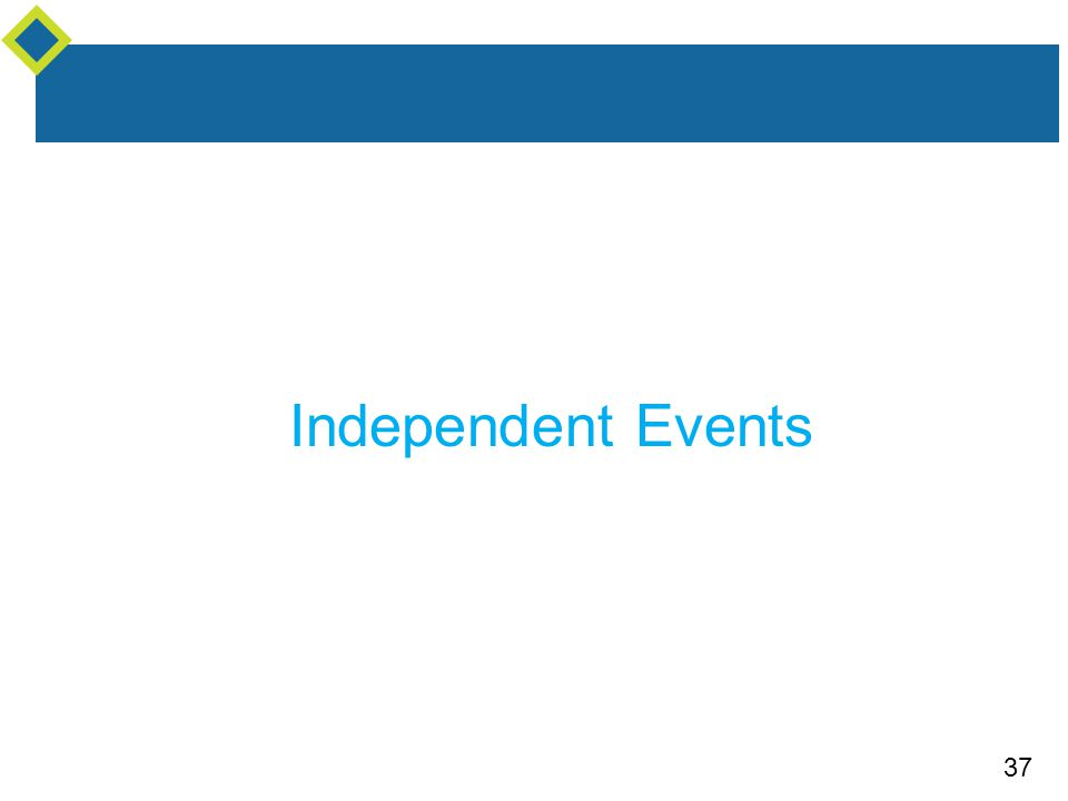 37 Independent Events