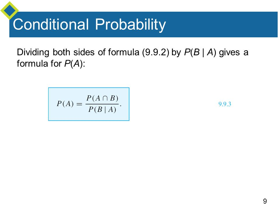 20 Example 2 – Solution Thus the probability is 15/22, or approximately 68.2%, that at least one of the balls is blue.