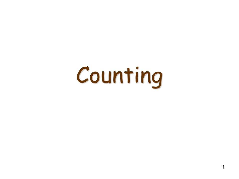 1 Counting