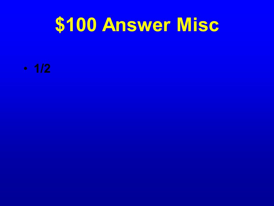 $100 Question Misc The school gym has 8 tumbling mats on the wall.