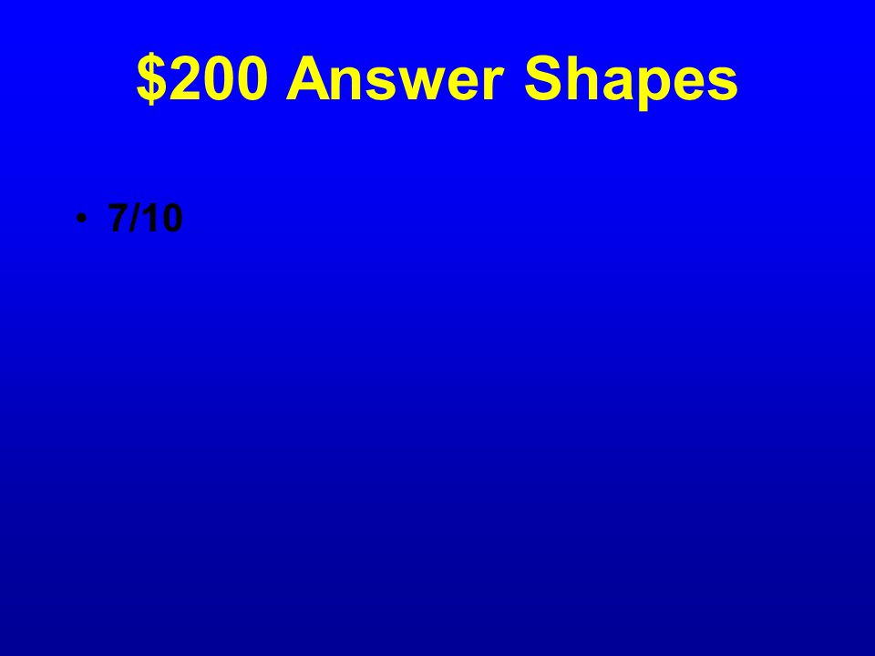 $200 Question Shapes What fraction is green?
