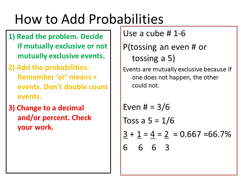 How to Add Probabilities 8 spaced spinner (equally spaced) labeled: shirt, belt, doll, ball, glove, daisy, fish, horse.