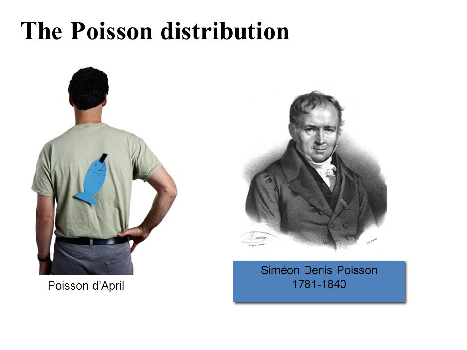 The Poisson distribution Siméon Denis Poisson 1781-1840 Siméon Denis Poisson 1781-1840 Poisson d'April