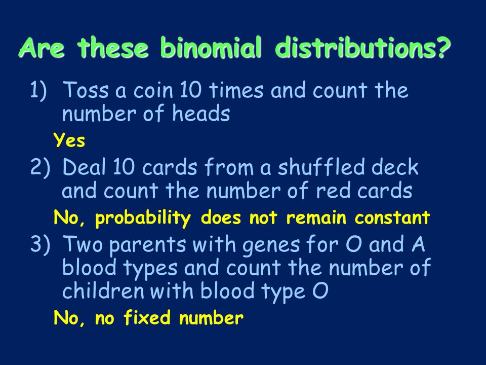 Are these binomial distributions.