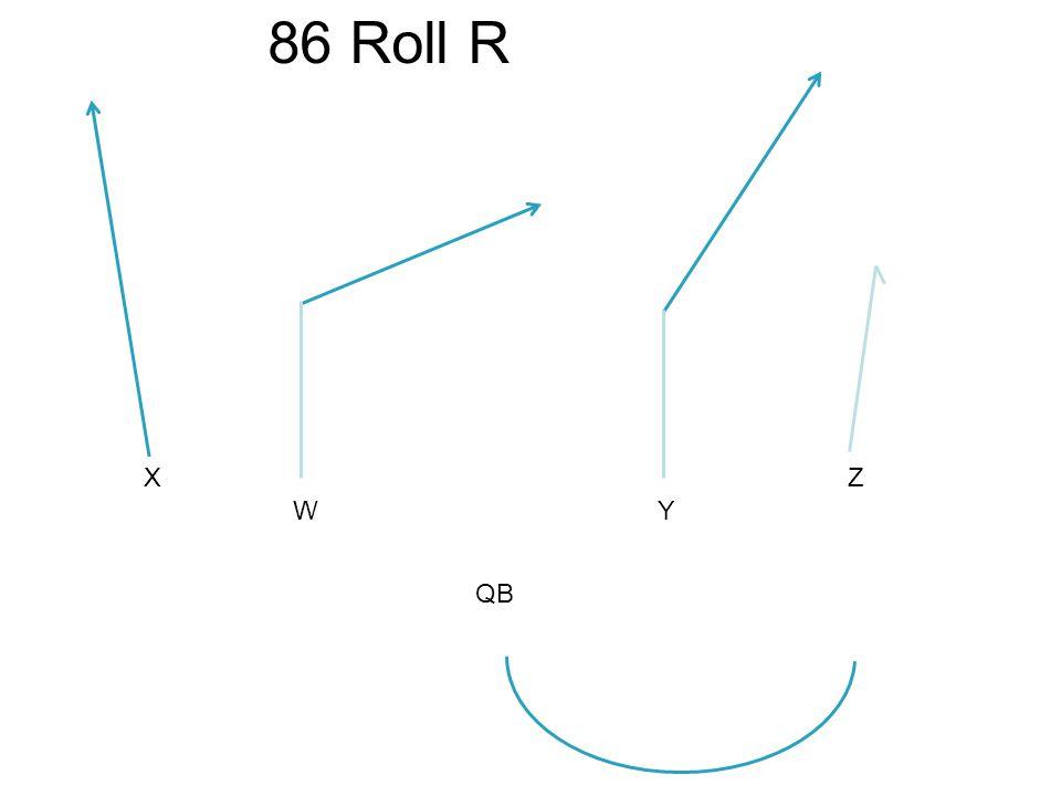 X WY Z 86 Roll R QB