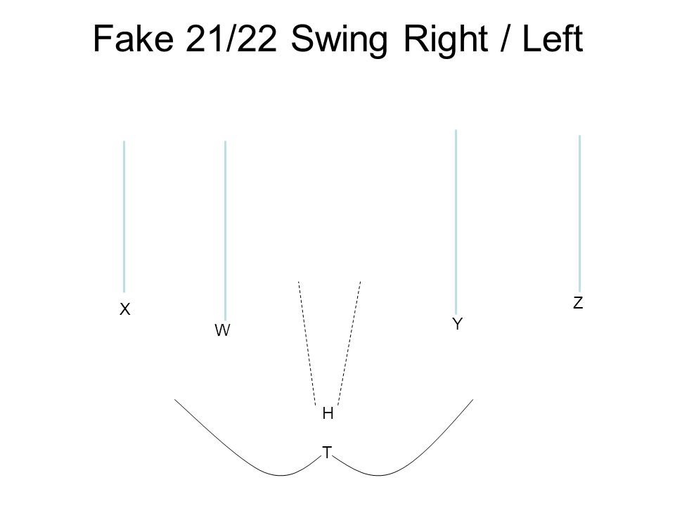 X W Y Z Fake 21/22 Swing Right / Left H T