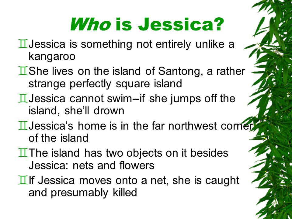 What Can Jessica Do.