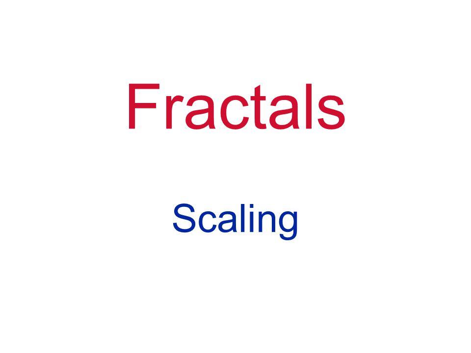 Fractals Scaling