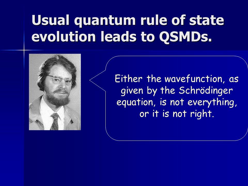 Interpretations of QM Anti-realist Anti-realist Realist Realist  Supplement QM state description (de Broglie-Bohm, modal interpretations)  Modify quantum dynamics (dynamic collapse)  Everett/many worlds