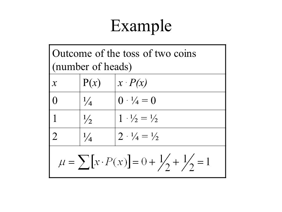 Example Number of matching digits (of a guess to a random 2-digit number) xP(x)x.