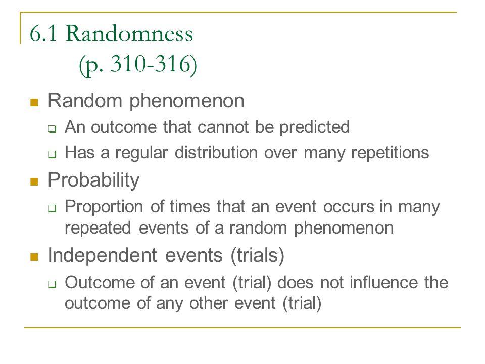 6.1 Randomness (p.