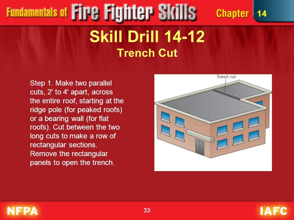 33 Skill Drill 14-12 Trench Cut Step 1.