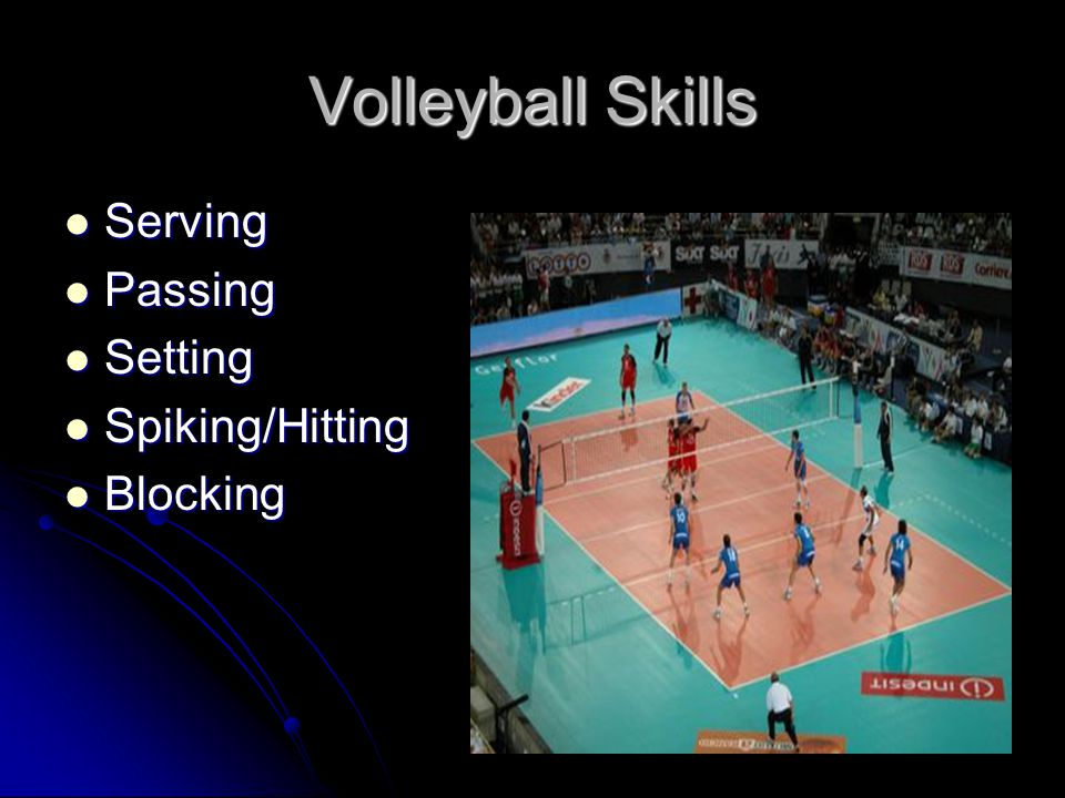 Serving UNDERHAND SERVE ☺ Stand facing the net with the foot opposite the hitting hand forward.