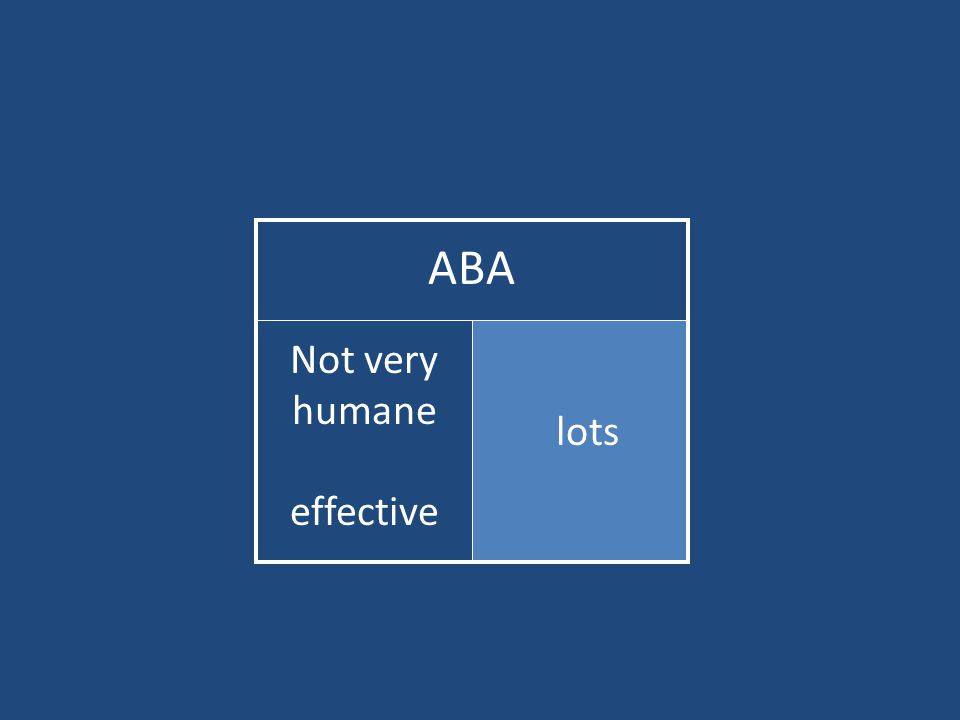 ABA lots Not very humane effective