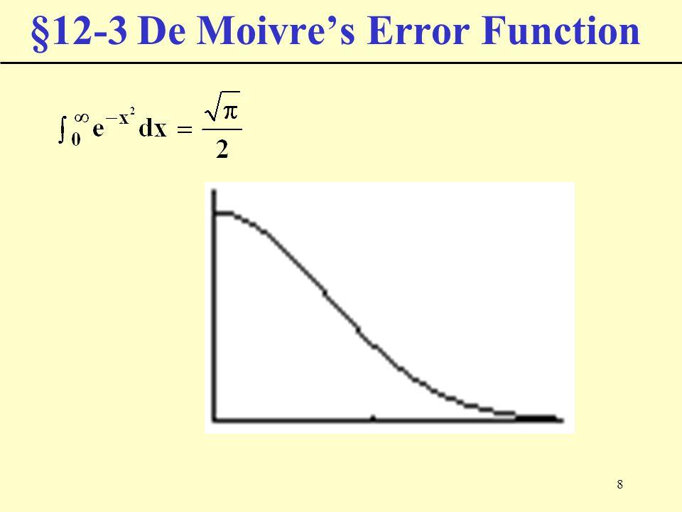 8 §12-3 De Moivre's Error Function