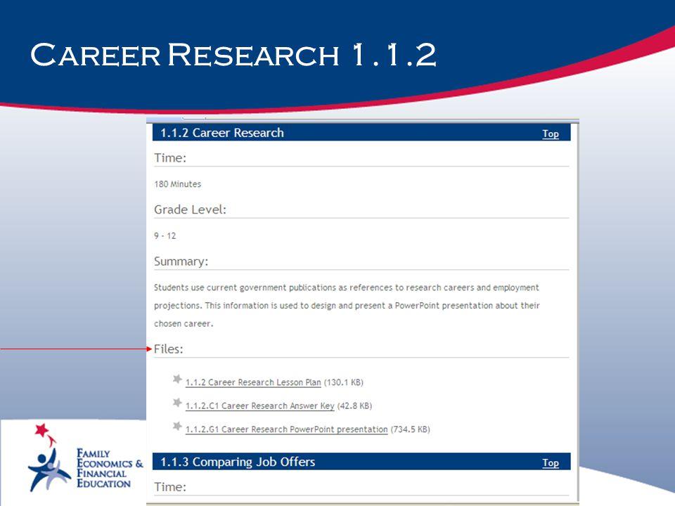 Career Research 1.1.2