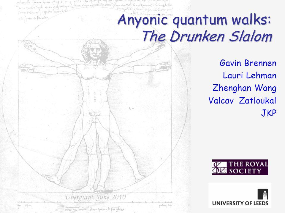 Gavin Brennen Lauri Lehman Zhenghan Wang Valcav Zatloukal JKP Ubergurgl, June 2010 Anyonic quantum walks: The Drunken Slalom