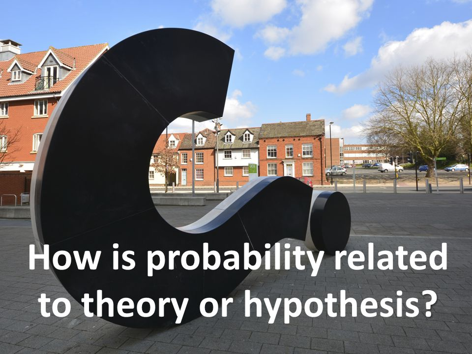 How is probability related to theory or hypothesis