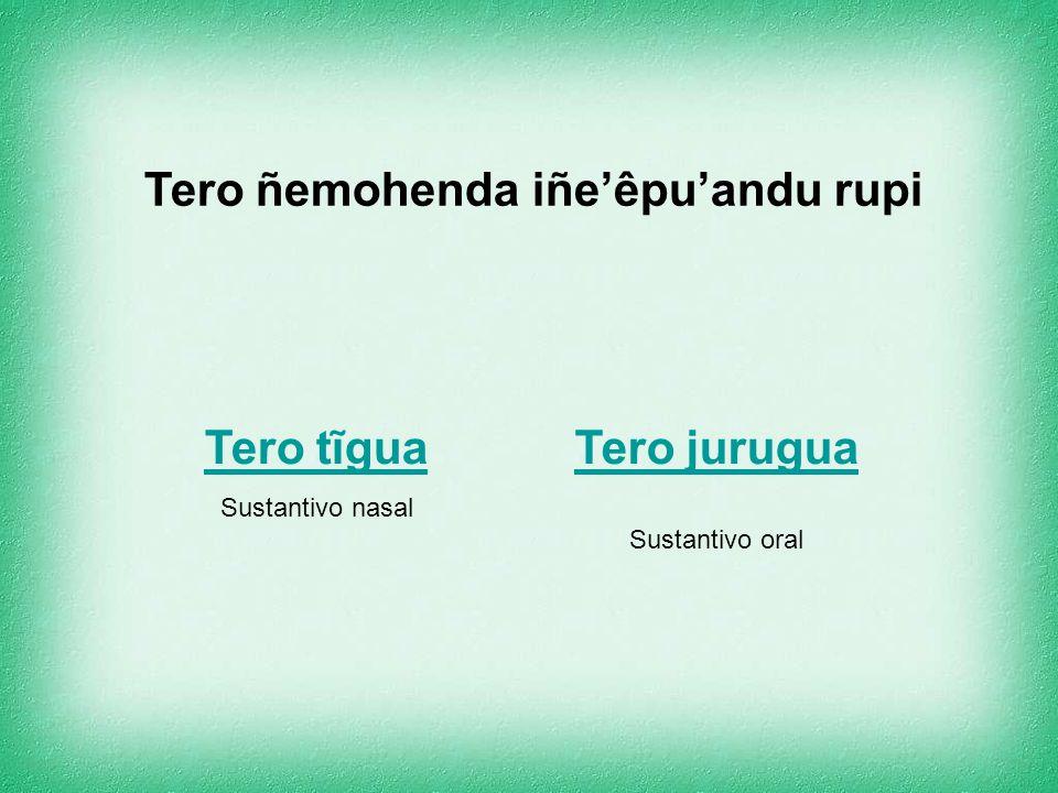 Tero ñemohenda (clasificación) Iñe'êpu'andu rupi – por su fonética Ijysaja rupi – por su moforlogía Hetepy rupi – por su estructura He'íseva rupi – po