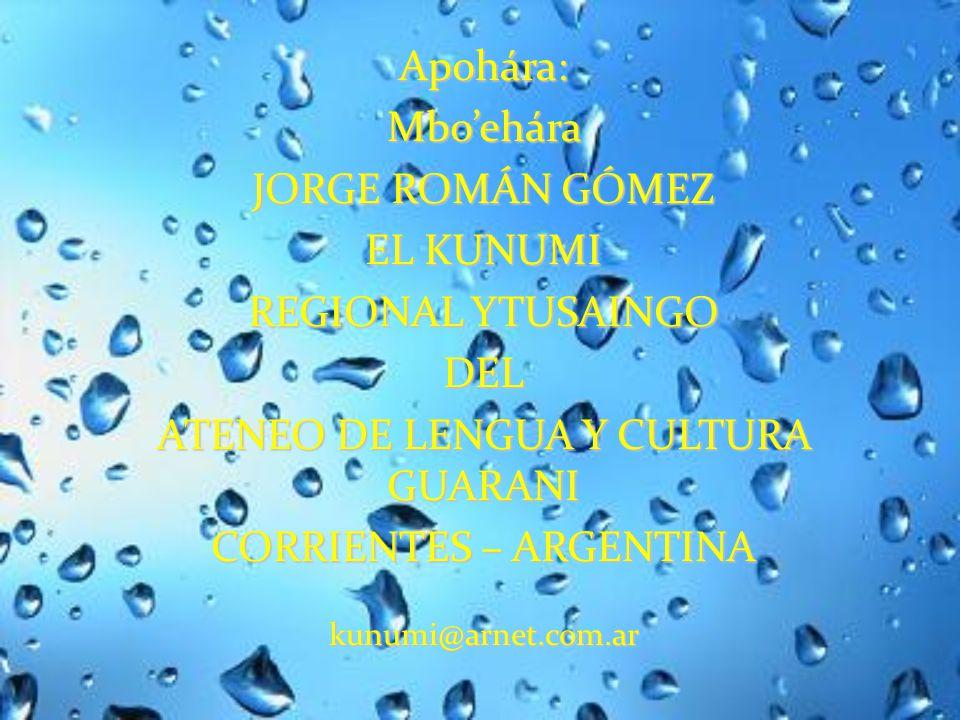 Bibliografía consultada Guarani Ñe'êtekuaaty de David A. Galeano Olivera (Ateneo de Lengua y Cultura Guarani Motenondehára)