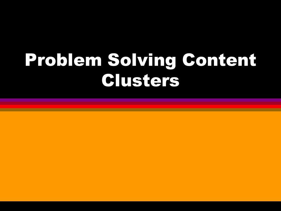 Problem Solving Content Clusters