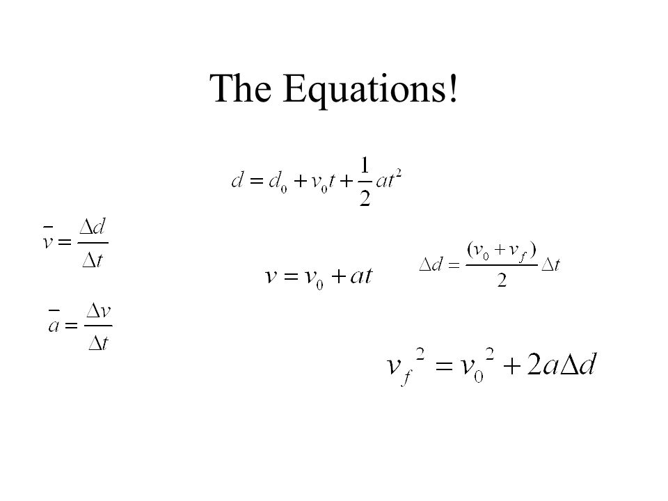 The Equations!