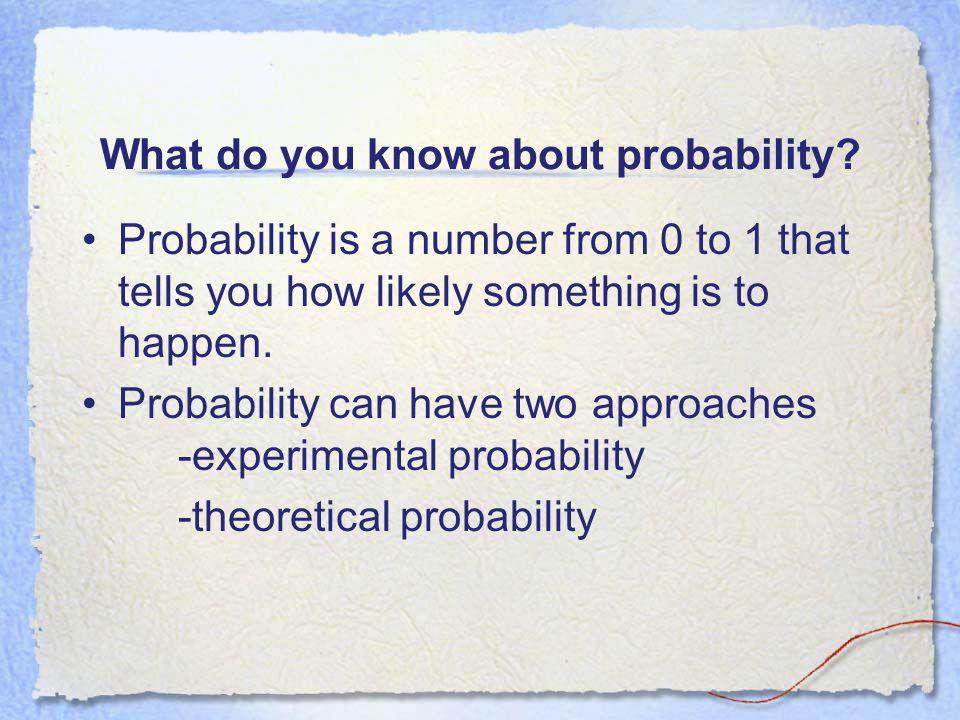Experimental Probability Vs. Theoretical Probability Lesson 6