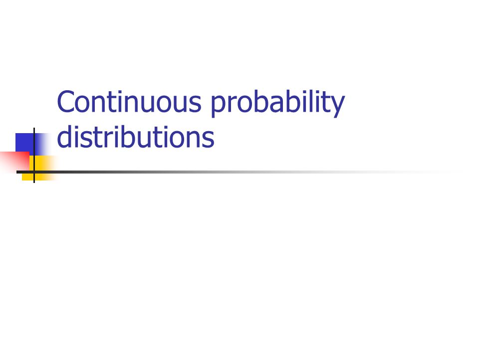 Continuous case  The probability function that accompanies a continuous random variable is a continuous mathematical function that integrates to 1.