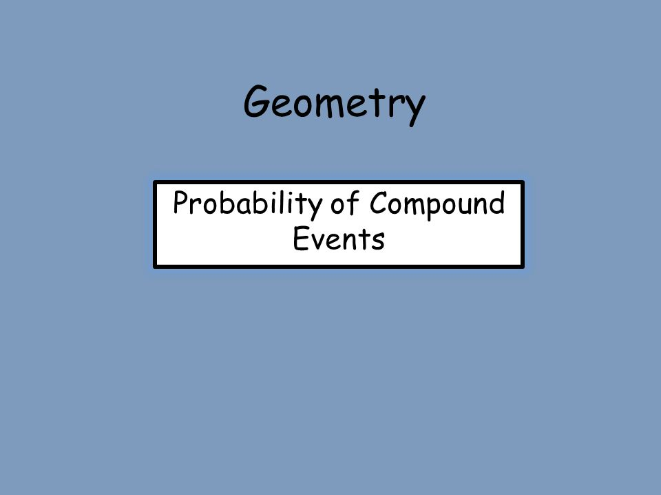 Geometry Probability of Compound Events