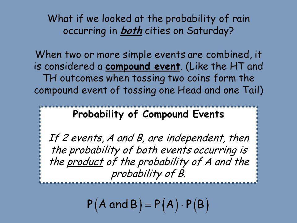 The probability of rain occurring Saturday in both T.O. and Chicago is 12%.