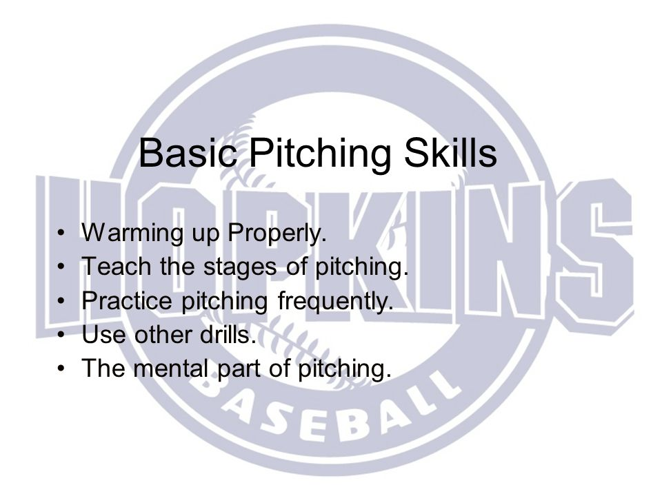 Pitching Little League to Babe Ruth Pat Berger Varsity Head Coach Hopkins High School