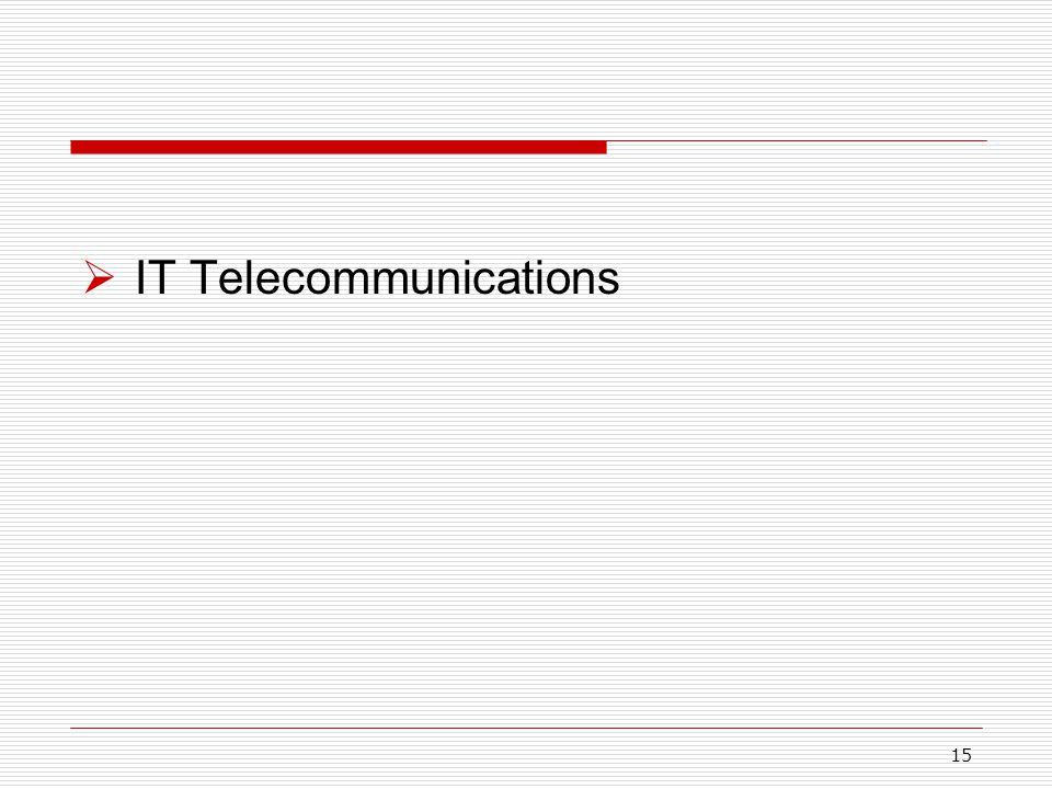 15  IT Telecommunications