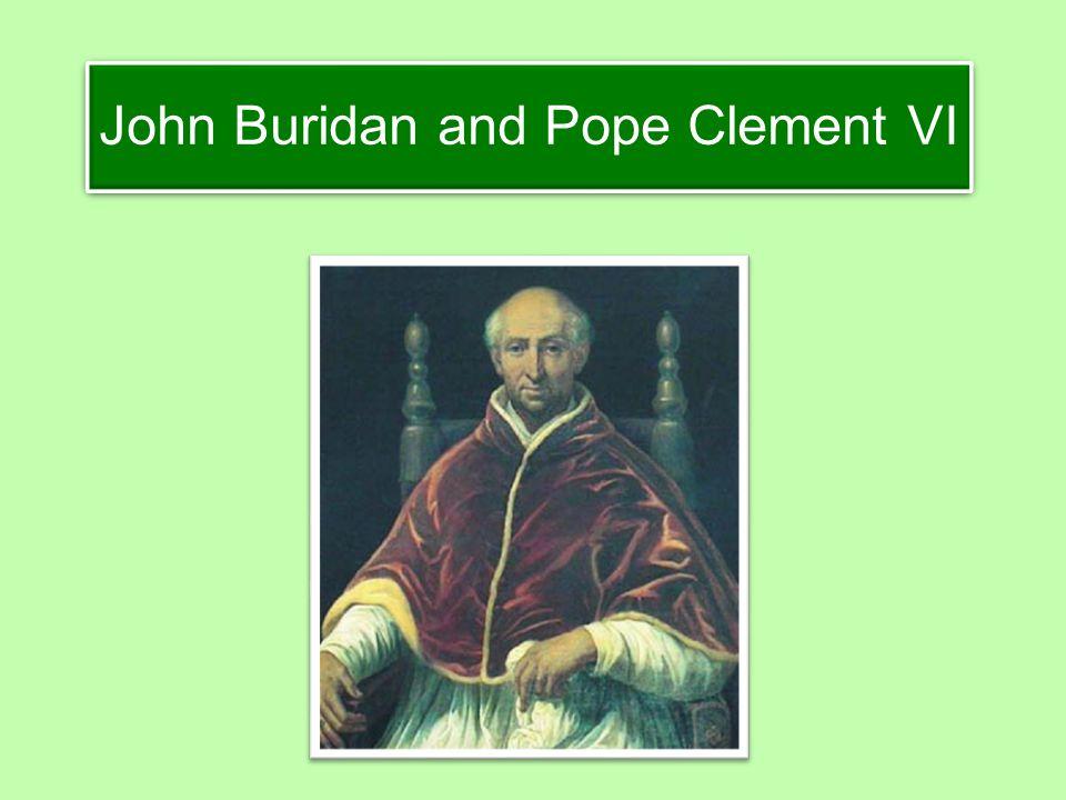 John Buridan and Pope Clement VI