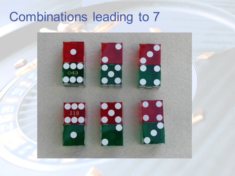 Combinations leading to 7